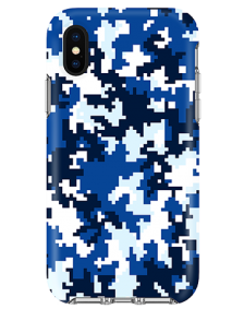 Picture of Apple iPhone X/XS Supreme Series Case, Blue Pixel Camo