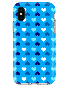 Picture of Apple iPhone X/XS Supreme Series Case, Blue Hearts