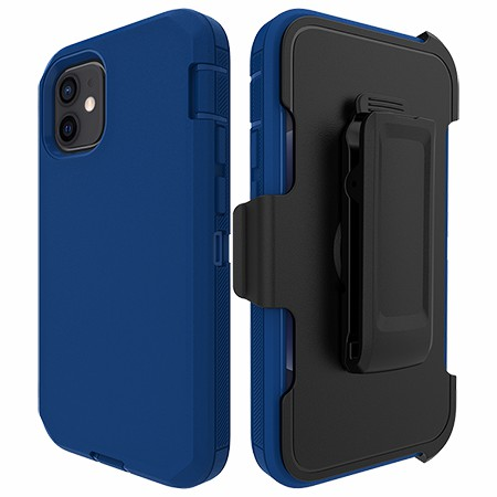 Picture of Triple Defense Case w/Holster for iPhone 12 Mini, Reflex Blue