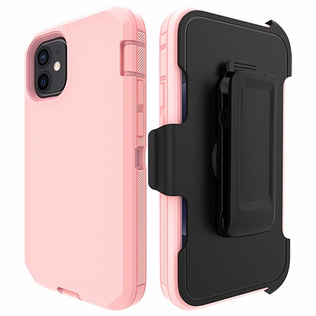 Picture of Triple Defense Case w/Holster for iPhone 12 Mini, Soft Pink