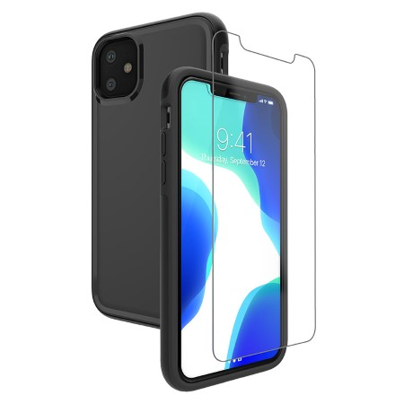 Picture of Intact Case for iPhone 11 w/Glass Screen Guard, Black
