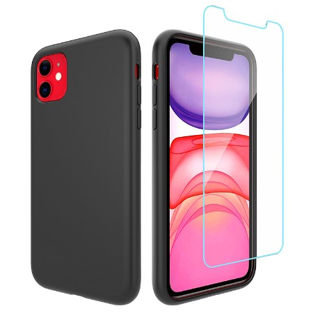 Picture of Lucid Case for iPhone 11 w/Glass Screen Guard, Black