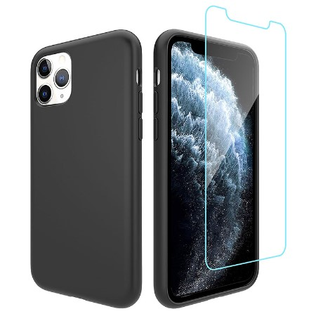 Picture of Lucid Case for iPhone 11 Pro Max w/Glass Screen Guard, Black