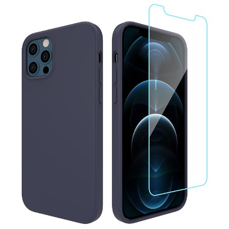 Picture of Lucid Case for iPhone 12/12 Pro w/Glass Screen Guard, Midnight Blue