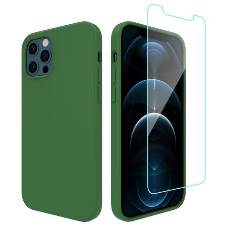 Picture of Lucid Case for iPhone 12/12 Pro w/Glass Screen Guard, Pacific Green