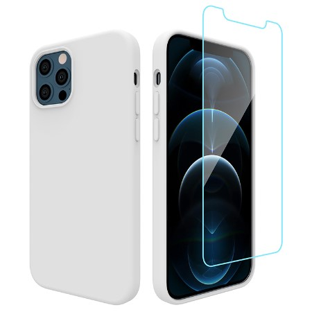 Picture of Lucid Case for iPhone 12/12 Pro w/Glass Screen Guard, White