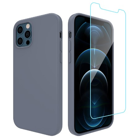 Picture of Lucid Case for iPhone 12 Pro Max w/Glass Screen Guard, Lavander Grey
