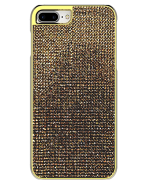 Picture of Apple iPhone 7 Plus & 8 Plus Brilliant Series Case, Gold Rhinestones