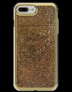 Picture of Apple iPhone 7 Plus & 8 Plus Brilliant Plus Series Case, Gold Rhinestones