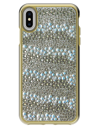 Picture of Apple iPhone Xs Max Krystal Series Limited Edition Case, Gold Krystals & Pearls