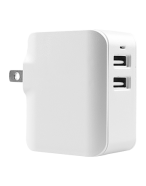 Picture of Dual USB 2.4A Wall Charger, White