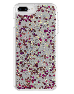 Picture of Apple iPhone 7 Plus & 8 Plus Sparkle Series Case, Pink Hearts